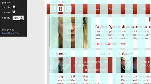 960grid-overlay bookmarklet