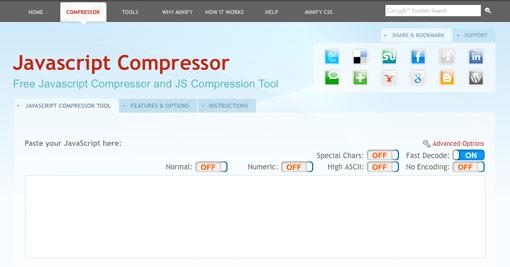 Free Javascript Compressor and JS Compression Tool