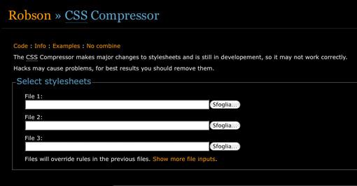 The CSS Compressor
